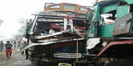 कोहरे का कहर: अब नालंदा में टकराए दो ट्रक, कई घायल