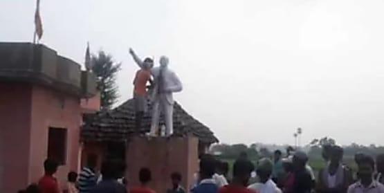 मुंगेर में अंबेडकर की प्रतिमा पर  पोती कालिख..जांच में जुटी पुलिस