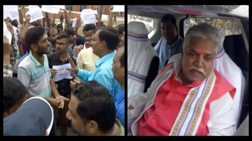 बिहार के कृषि मंत्री का भारी विरोधः छात्रों ने मेन गेट में कर दी तालाबंदी,मजबूरन मंत्री जी को बैरंग लौटना पड़ा