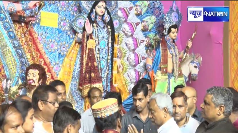 महासप्तमी पर CM नीतीश ने लिया मां दुर्गा का आशीर्वाद, बिहारवासियों को दी शुभकामनाएं