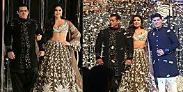 भारत में आने से पहले रैंप शो पर जलवे बिखेरे सलमान-कटरीना