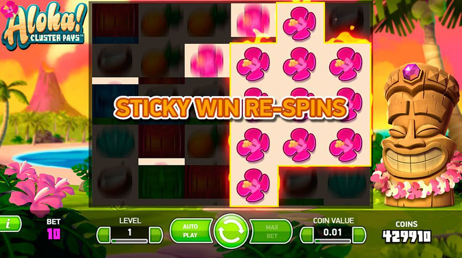 Sticky win re-spins Spille online
