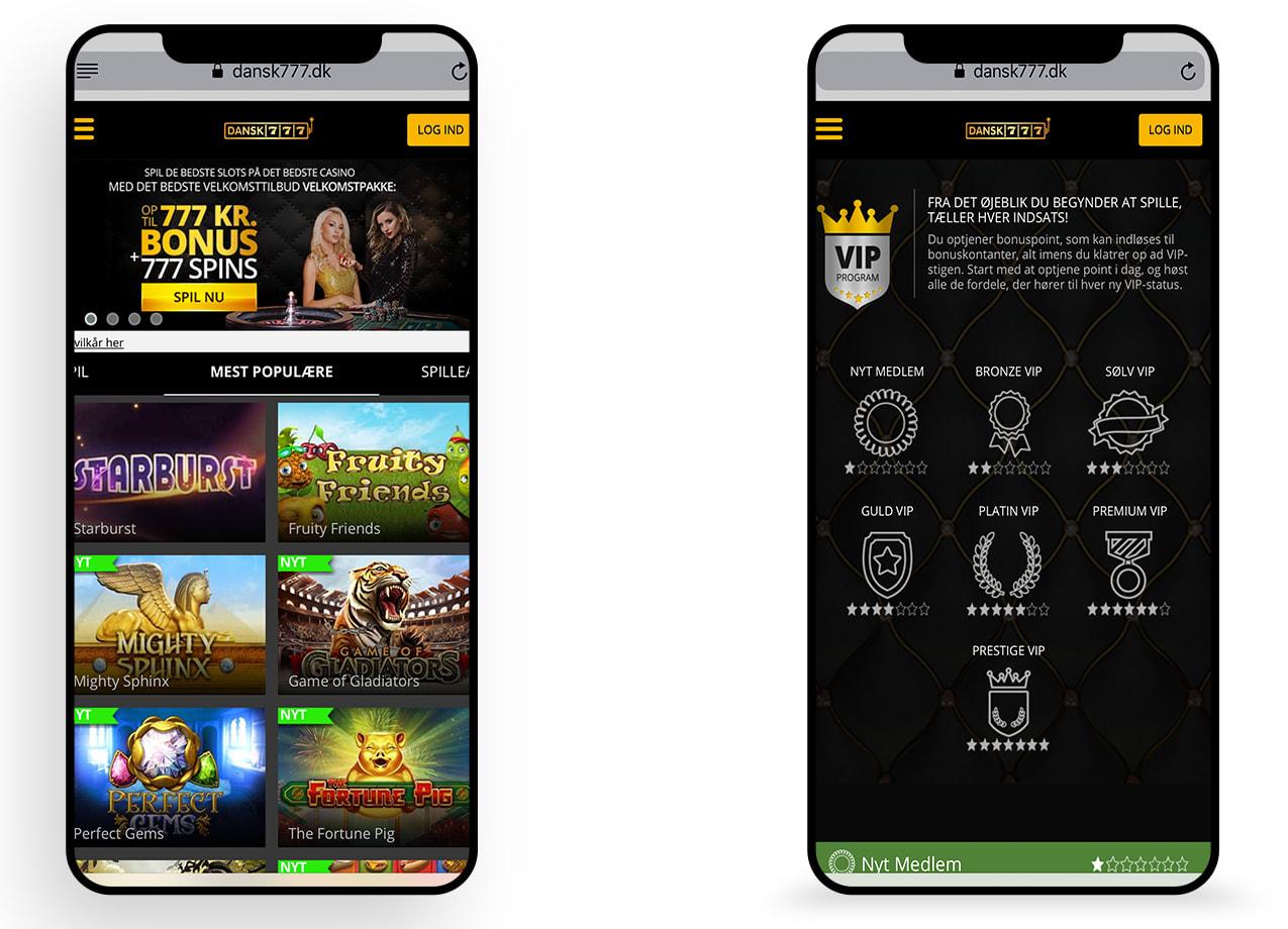 Mobil optimering til online casino Dansk777.dk
