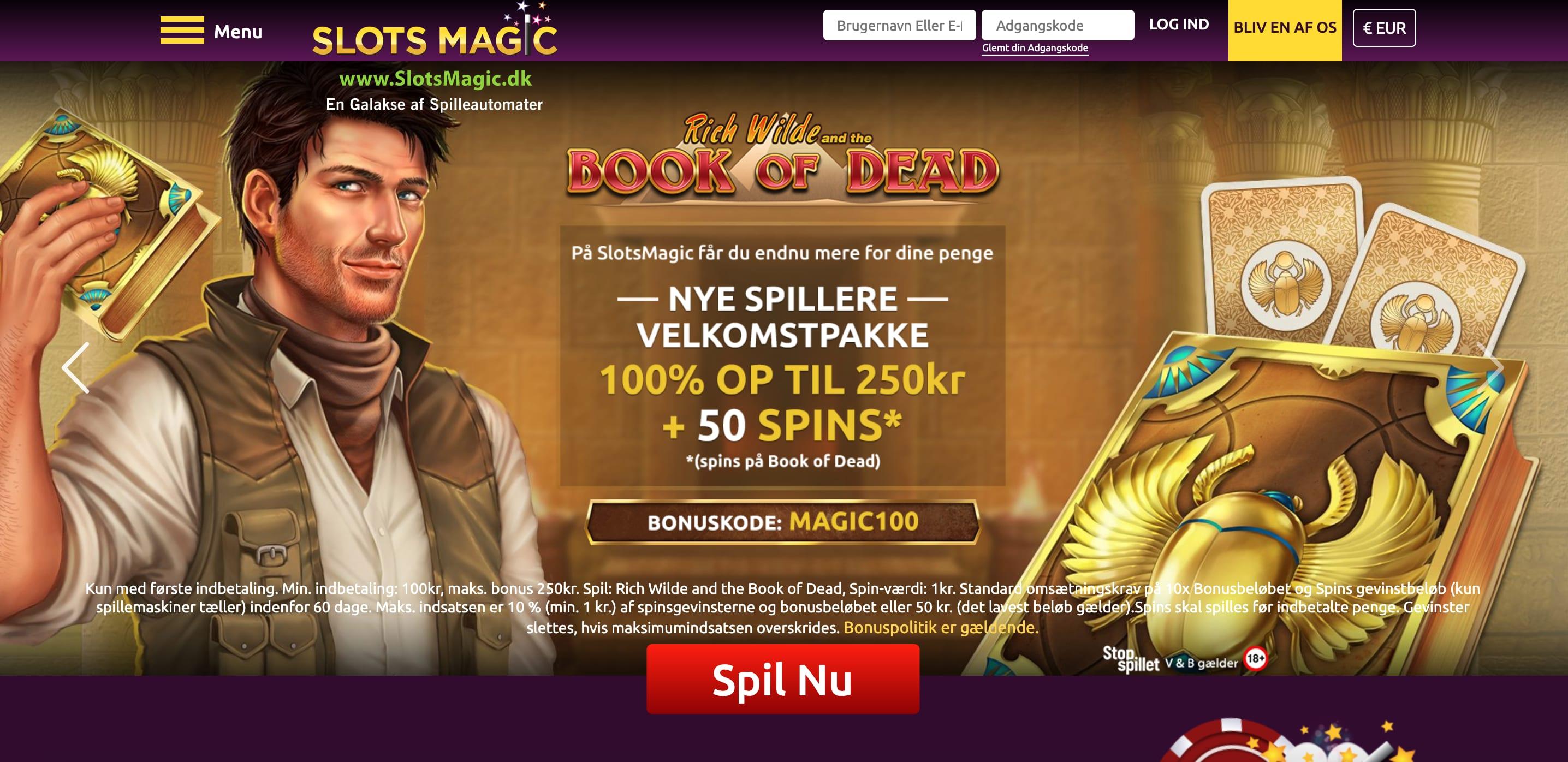 Spil online casino SlotsMagic.dk