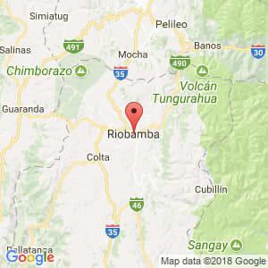 Localización de Riobamba en Chimborazo