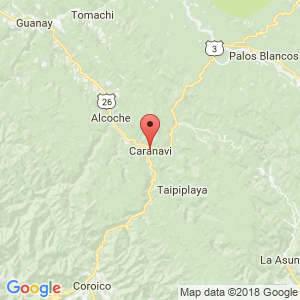 Localización de Caranavi en La Paz