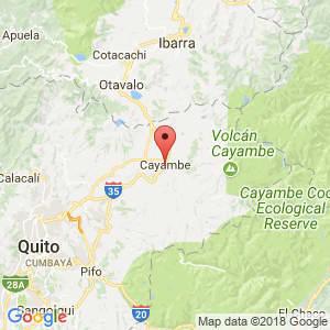 Localización de Cayambe en Pichincha