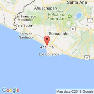 Localización de Acajutla en Sonsonate