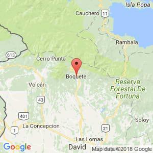 Localización de Bajo Boquete en Chiriquí