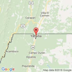 Localización de Yacuiba en Tarija