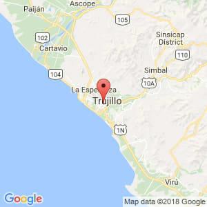 Localización de Trujillo en La Libertad