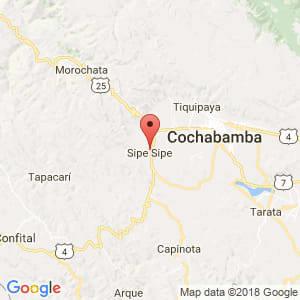 Localización de Sipe Sipe en Cochabamba