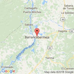 Localización de Barrancabermeja en Santander