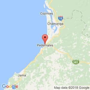 Localización de Pedernales en Manabí