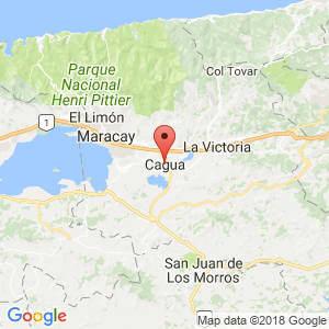 Localización de Cagua en Aragua