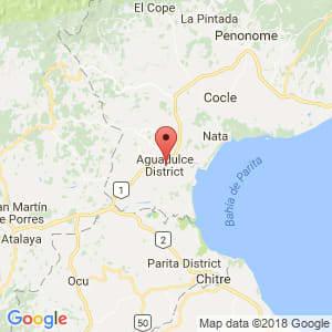 Localización de Aguadulce en Coclé