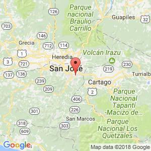Localización de San Antonio de Desamparados en San José
