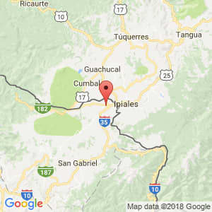 Localización de Tulcán en Carchi