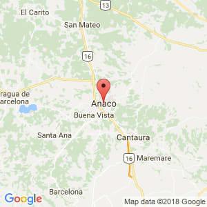 Localización de Anaco en Anzoátegui