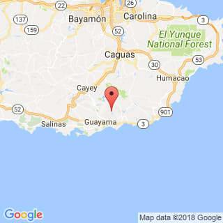 Localización de Cidra en Guayama