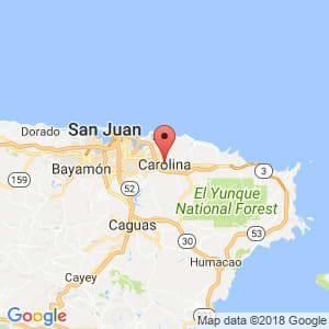 Localización de Canóvanas en Carolina