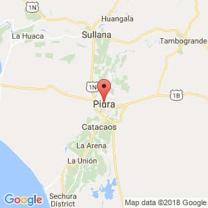 Localización de Piura en Piura