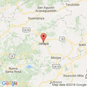 Localización de Jalapa en Jalapa