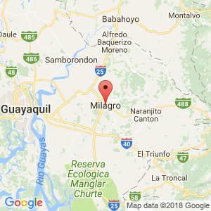 Localización de Milagro en Guayas