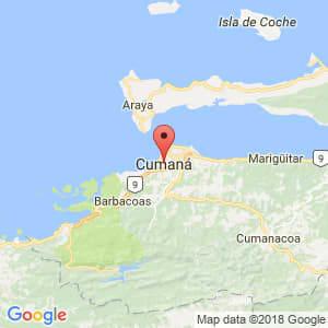 Localización de Cumaná en Sucre