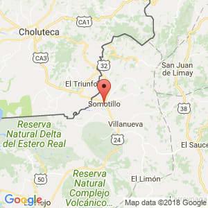Localización de Somotillo en Chinandega