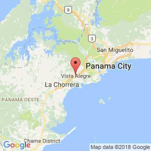 Localización de Vista Alegre en Panamá Oeste