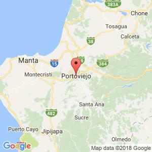 Localización de Portoviejo en Manabí