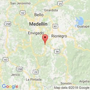Localización de Retiro en Antioquia