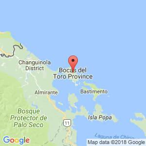 Localización de Bocas del Toro en Bocas del Toro