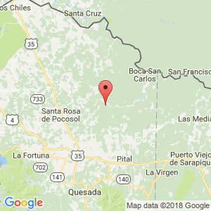 Localización de San Carlos en Alajuela