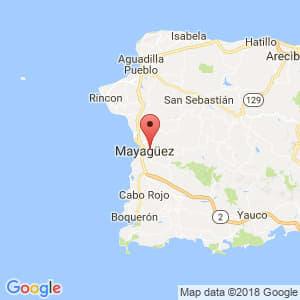 Localización de Mayagüez en Mayagüez-Aguadilla