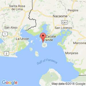 Localización de Amapala en Valle
