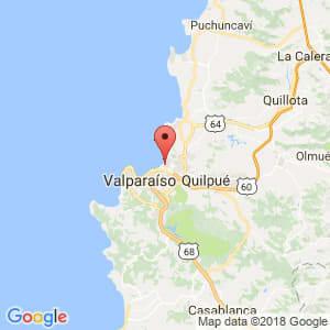 Localización de Viña del Mar en Valparaíso