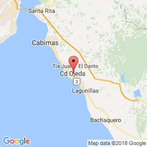 Localización de Ciudad Ojeda en Zulia