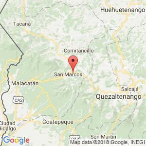 Localización de San Pedro Sacatepéquez en San Marcos