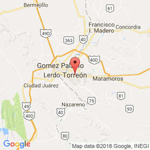 Localización de Torreón en Coahuila de Zaragoza