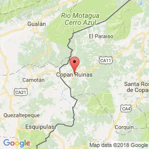 Localización de Copán en Copán