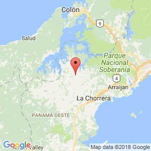 Localización de La Chorrera en Panamá Oeste