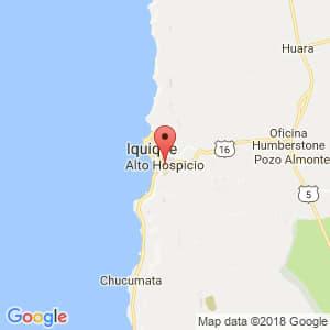 Localización de Alto Hospicio en Tarapacá