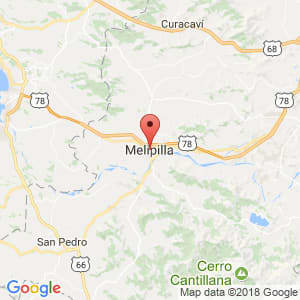 Localización de Melipilla en Metropolitana de Santiago