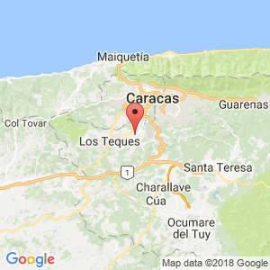 Localización de San Antonio de Los Altos en Miranda