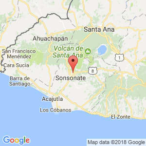 Localización de Sonzacate en Sonsonate