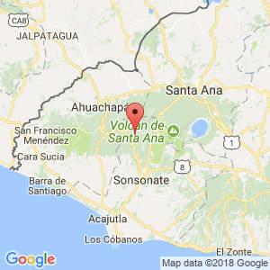 Localización de Juayúa en Sonsonate