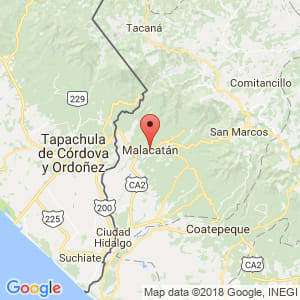 Localización de Malacatán en San Marcos