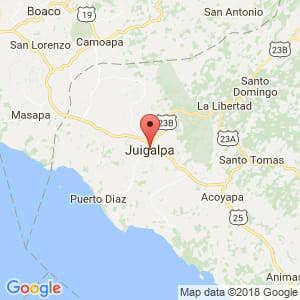 Localización de Juigalpa en Chontales